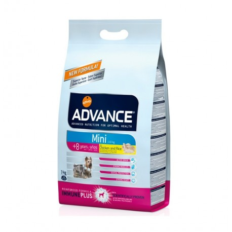 Advance mini senior +8 chicken & rice (pollo y arroz)