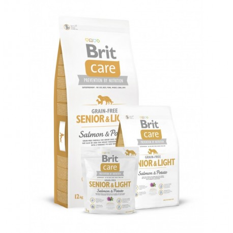 Brit care grain free senior&light (salmón y patata)