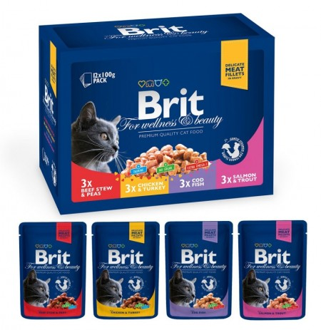 Brit premium 12 bolsitas family plate (gatos)