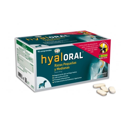 Hyaloral condroprotector razas pequeñas y medianas