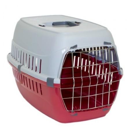Mp transportín puerta metal roadrunner rojo para gatos