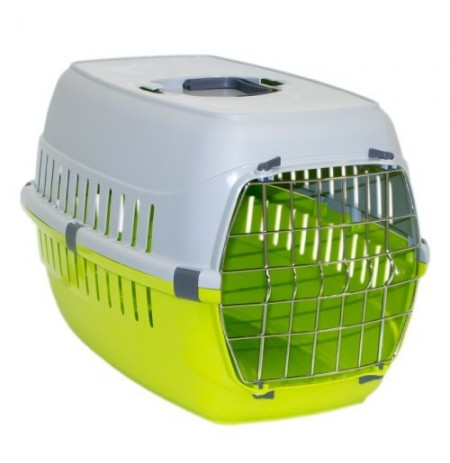 Mp transportín puerta metal roadrunner verde para gatos