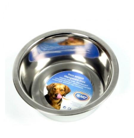 Duvo comedero acero plano para perros