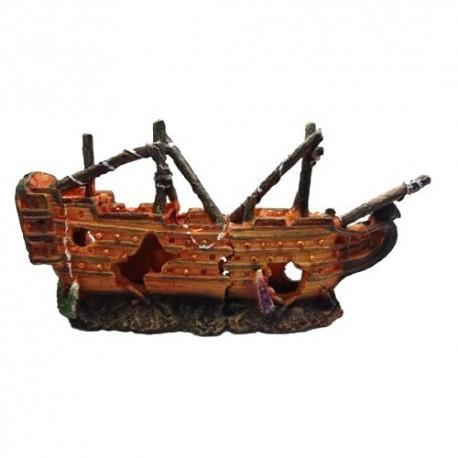 Duvo barca naufragada decoración acuario n23