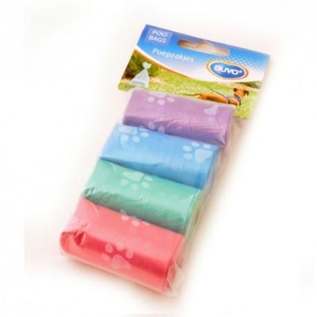 Duvo bolsitas higiénicas pastel huellas 4x20