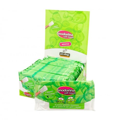 Inodorina guantes de limpieza clorexidina soft touch