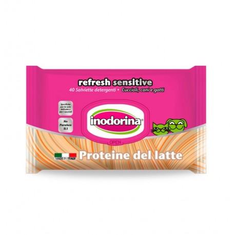 Inodorina refresh sensitive toallitas proteina de leche