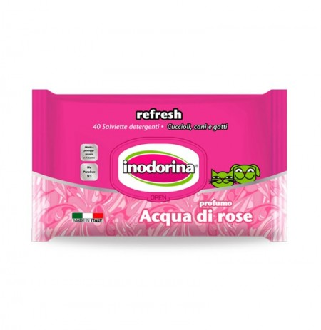 Inodorina refresh toallitas aqua di rosa