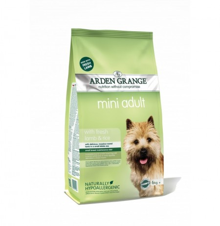 Arden grange adult mini cordero y arroz (lamb & rice)