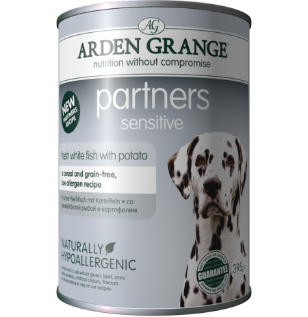 Arden grange partners sensitive pescado y patata (fish & potato) humedo