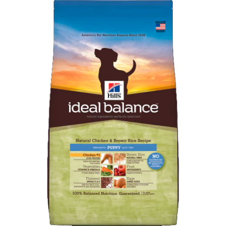 Hill's ideal balance puppy con pollo y arroz integral
