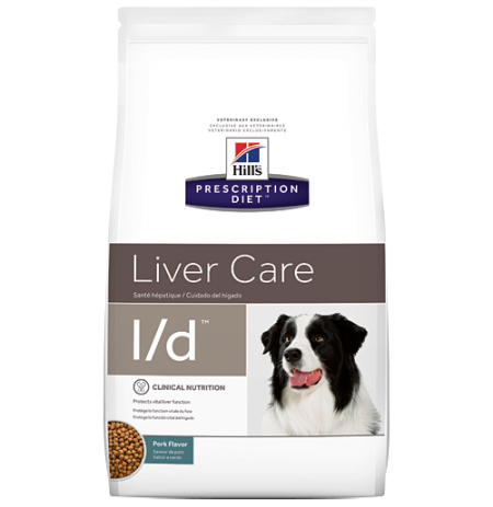 Hill's prescription diet canine l/d liver care sabor cerdo
