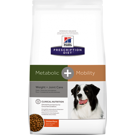 Hill's prescription diet canine metabolic + mobility sabor pollo