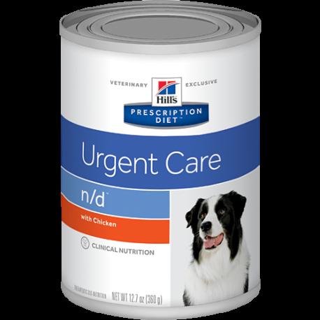 Hill's prescription diet canine n/d urgent care (lata)