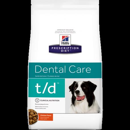 Hill's prescription diet canine t/d dental care sabor pollo