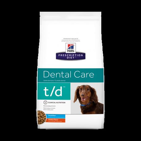 Hill's prescription diet canine t/d mini dental care sabor pollo
