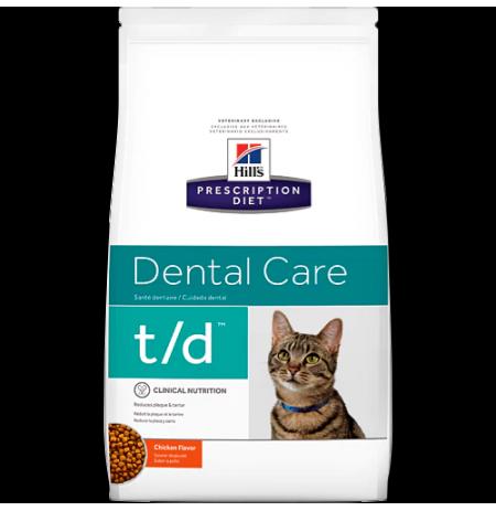 Hill's prescription diet feline t/d dental care sabor pollo