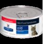 Hill's prescription diet feline z/d skin/food sensitivities (lata)