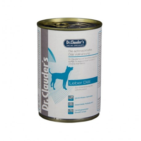 Lata dieta húmeda hepática dr.clauder's para perros