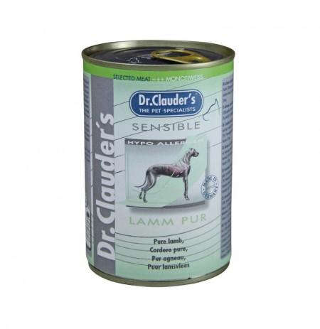 Lata sensible puro cordero dr.clauder's para perros sensibles