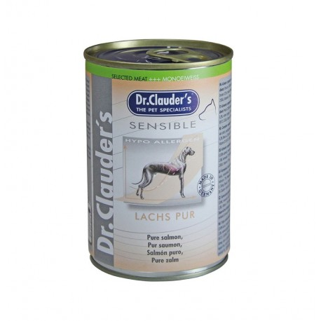 Lata sensible puro salmón dr.clauder's para perros sensibles