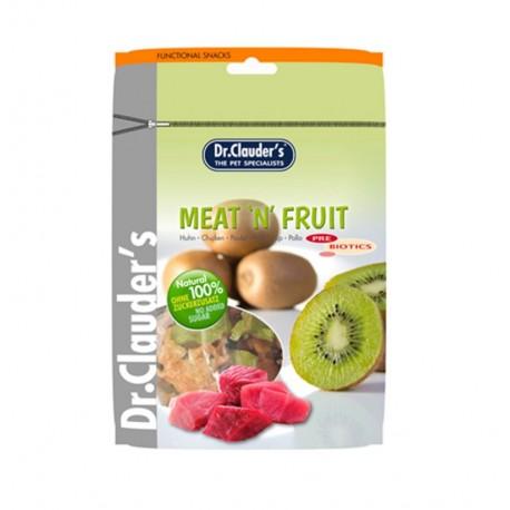 Snack kiwi y pollo meat'n fruit dr.clauder para perros