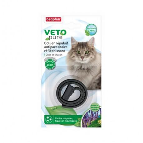 Collar repulsivo reflectante para gatos
