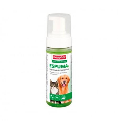 Espuma repulsiva antiparasitaria para perros y gatos