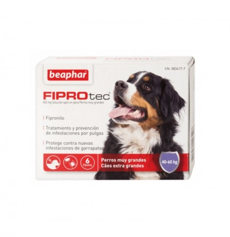 Fiprotec pipetas perros extra grandes (40-60 kg)