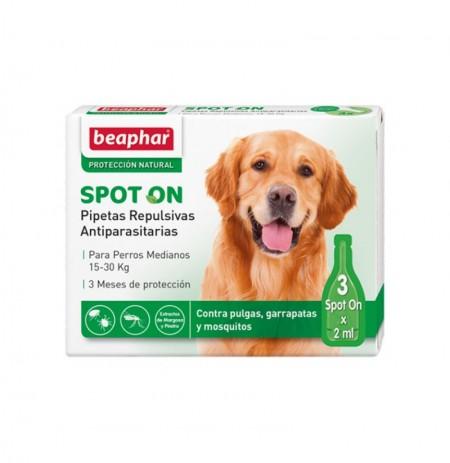 Pipetas perro mediano repulsivas antiparasitarias 15-30kg