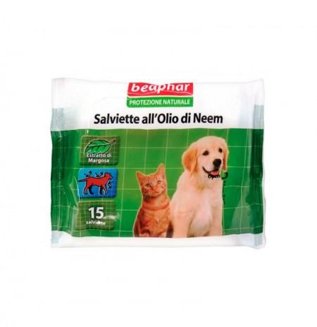 Toallitas repulsivas antiparasitarias para perros y gatos