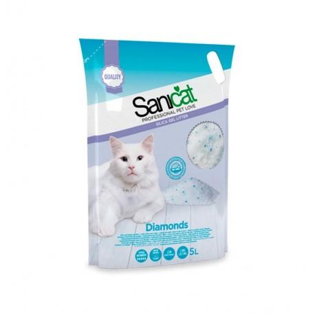 Sanicat diamonds arena de sílice para gatos