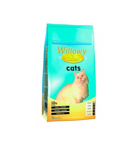Willowy gold cats (pollo, salmón y atún)