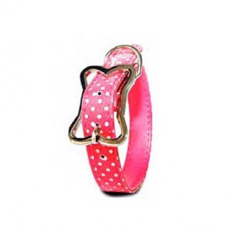 Collar lunares rosa