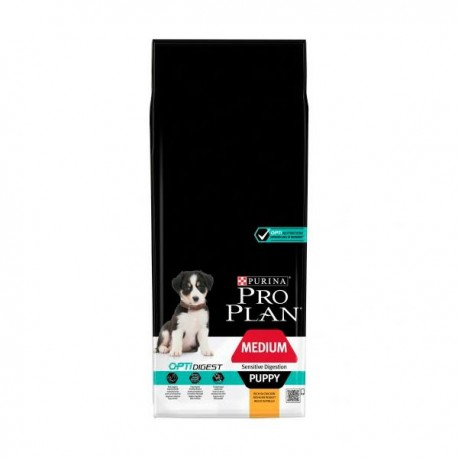 Purina pro plan digestión sensible puppy mediano pollo