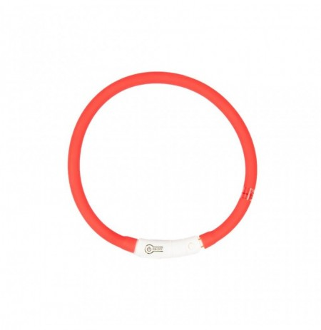 Collar led silicona usb rojo duvo seecurity