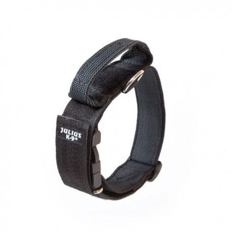 Collar julius-k9 con asa negro - color & gray