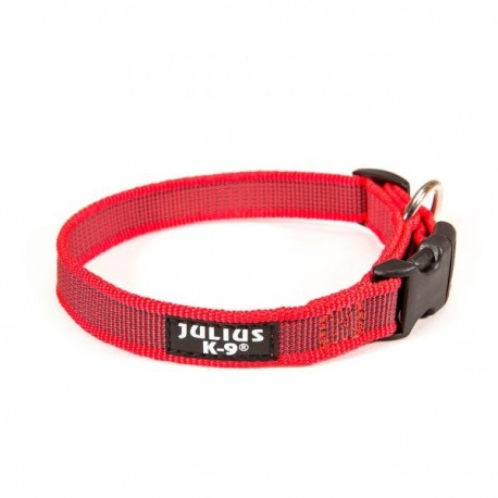 Collar julius-k9 rojo - rojo & gray