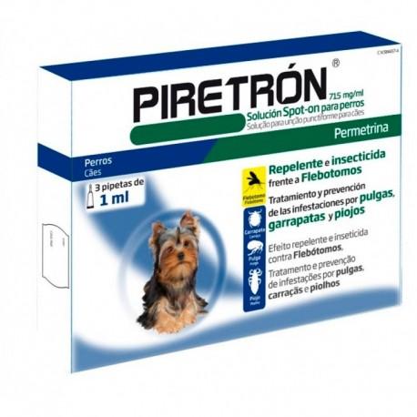 Piretron 3 pipetas antipulgas, garrapatas y mosquito para perros