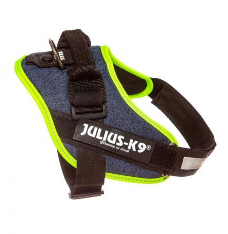 Arnés julius-k9 denim neon trim powerharness