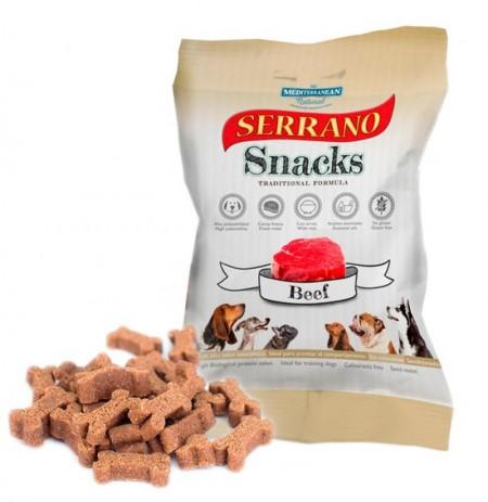 Snacks serrano buey para perros