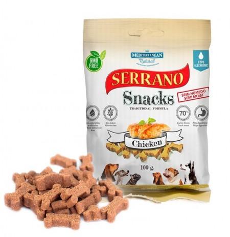 Snacks serrano pollo para perros