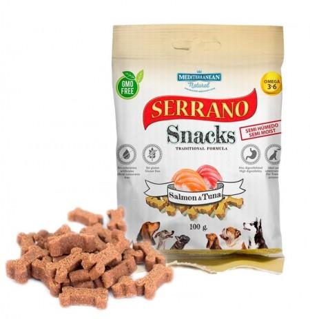 Snacks serrano salmón y atún para perros