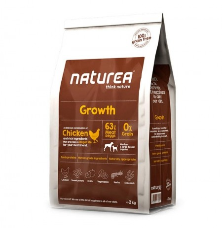 Naturea growth puppy pollo (cachorros)