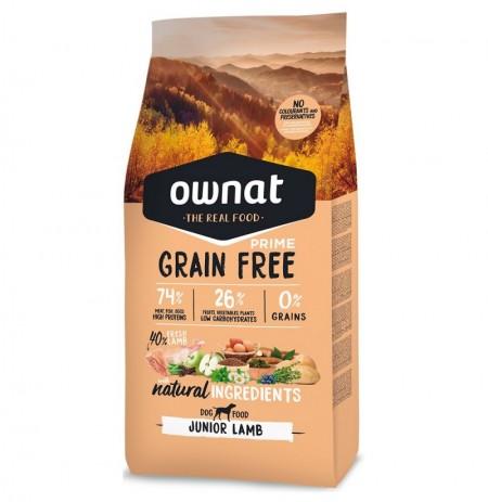 Ownat prime junior grain free cordero para cachorros
