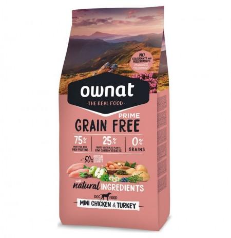 Ownat prime mini grain free pollo y pavo (perros mini)