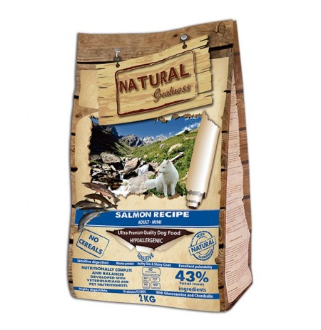 Natural greatness salmón mini para perros