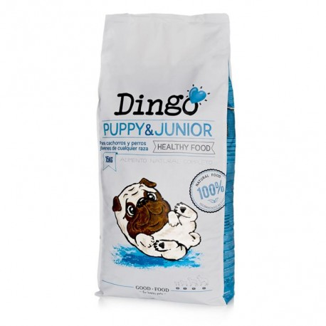 Saco pienso Dingo puppy & junior para cachorros de Dingonatura