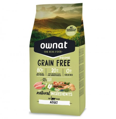 Ownat cat prime grain free adult para gatos
