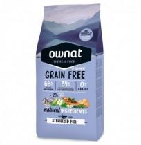 Ownat cat prime grain free sterilized para gatos (pescado)